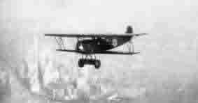 A C.II as an aerial photography aircraft over New York