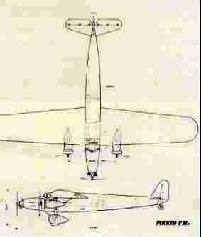 Original drawing for the Fokker F.XV