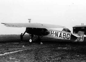 The first KLM Fokker F-II with registration H-NABC