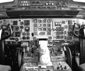 Fokker F28 cockpit, C Richard Barsby