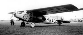The Fokker F.VIIa which made the first flight to the Dutch East Indies