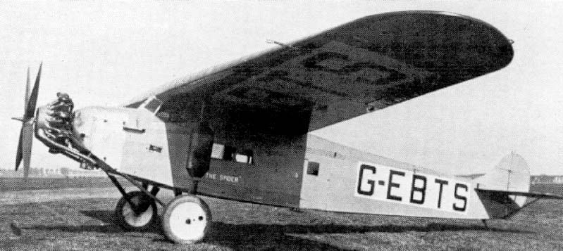 Fokker F.VIIa Spider, owned by the Dutchess of Bedford