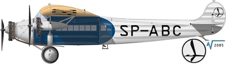 """[Zvesda] - Fokker F-VII """"SOUTHERN CROSS"""" Fokker%20F7b-3M%20LOT%20SP%20ABC"""