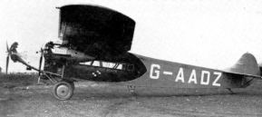 In 1928, Fokker build a new F.VIIb-3M for the famous Van Lear Black, this was the G-AADZ, owned by a airlinecompany from mr Lear Black especially grounded for this purpose