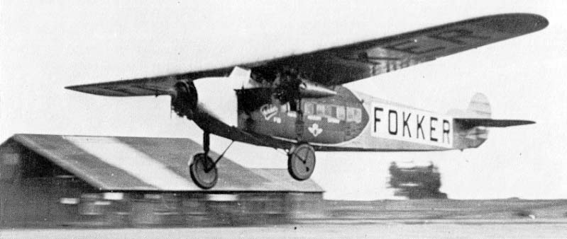 The first Fokker F7a-3M Trimotor in de the U.S.