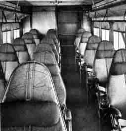 Comfortably-upholstered interior of the Fokker F.9