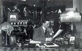Anthony Fokker behind his desk