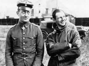 Anthony Fokker and German pilot Luitenant Werner Voss
