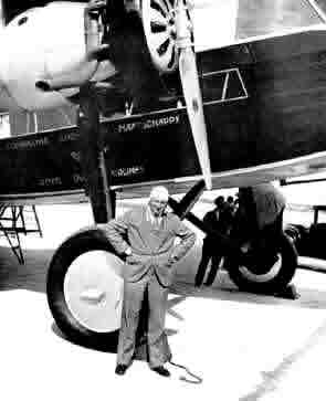 Anthony Fokker in front of a Fokker F.12, 1930