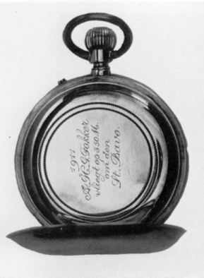 This watch with inscription was a present from the father of Anthony, after he had circled the churchtowe in Haarlem, 1911