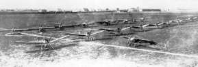 Fokker Flying School at Doberitz. We see a group of Spiders, M.1 and M.5's. The first series of armed M.5's went to this school to prepare pilots for their service at the front