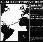 Poster Christmasflight to the Dutch west Indies