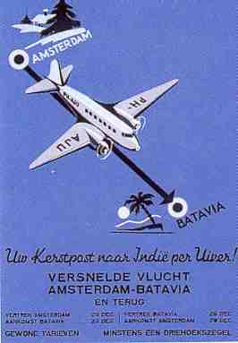 Poster for the promotion of this fast Christmas flight to Batavia. Unfortunately most of this post never arrived