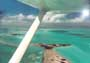 Flying a Cessna over the Florida Keys, beautiful